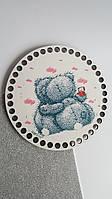 Донышко с рисунком для сумочки или корзинки, диаметр 16 см, Teddy Bear