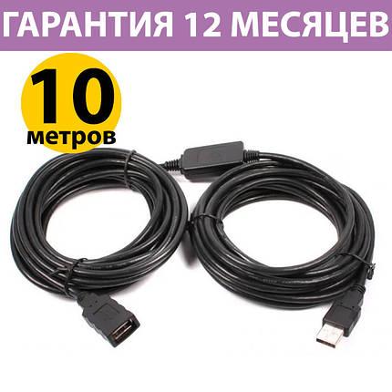 Активний USB подовжувач 10 метрів Viewcon VV043-10м чорний (VV043-10M), фото 2