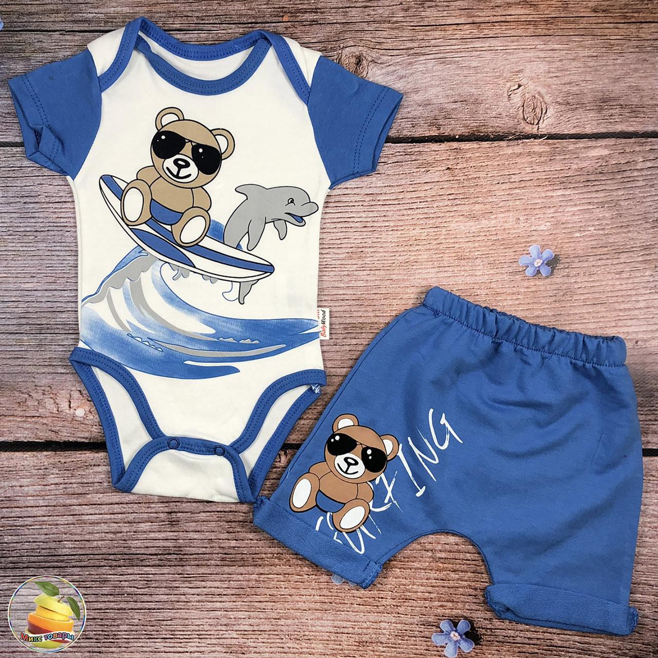 Боді з коротким рукавом і шорти для хлопчика Розміри: 3,6,9,12 місяців (20084-2)