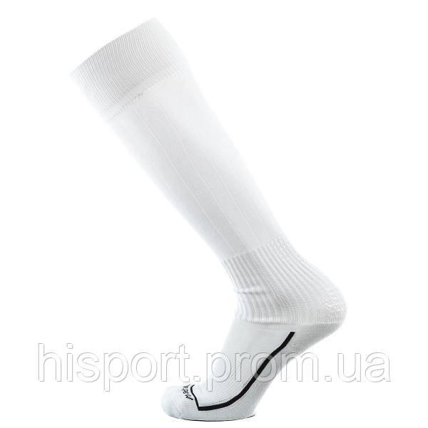Футбольные гетры белые с трикотажным носком однотонные Europaw