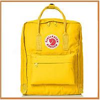 Городской прогулочный рюкзак Kanken Fjallraven Kanken 16 Litros Amarilla (канкен, желтый) женский / мужской