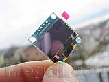 """Дисплей OLED 0.96"""" I2C 128х64 голубого свечения Arduino ESP STM STM32 - модуль, фото 6"""