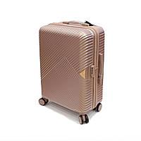 Средний дорожный чемодан на четырех колесах Wings пудровый