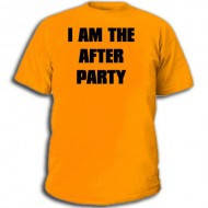 Футболка с надписью: «I am the After Party»