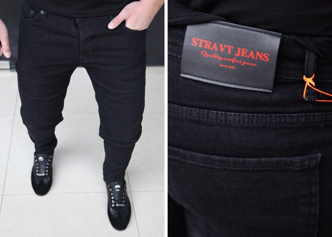 Мужские джинсы STRAVT JEANS H0254 черные