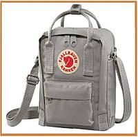 Городской прогулочный рюкзак Kanken Fjallraven Kanken 16 Litros Grey (канкен, серый) женский / мужской