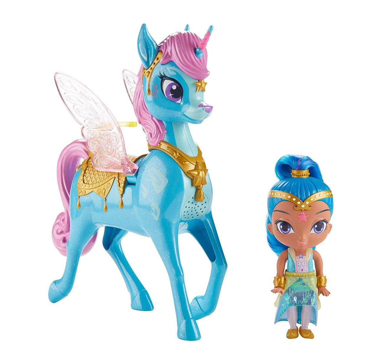 Кукла Шайн с интерактивным единорогом Shimmer and Shine от Fisher-Price Magical Flying Zahracorn, Shine