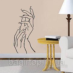 Інтер'єрна вінілова наклейка для салону краси (руки)