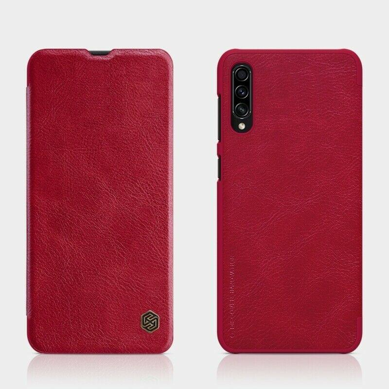 Nillkin Samsung Galaxy A30s/ 50s Qin leather Red case Кожаный Чехол Книжка
