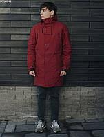 Мужская фирменая куртка-парка Staff seven bordo