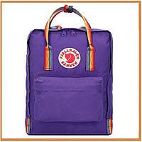Городской прогулочный рюкзак Fjallraven Kanken Purple Rainbow (канкен, фиолетовый) 16 литров женский / мужской