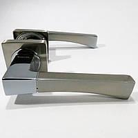 Ручка дверная Кедр R08.130 AL Сатин/Хром
