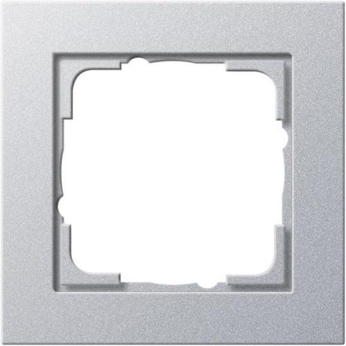 Рамка 1-пост. GIRA E2 алюминий