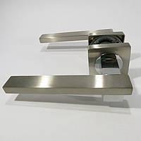 Ручка дверная Кедр R08.150 AL Сатин/Хром
