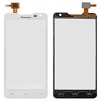 Touchscreen (сенсорный экран) для Prestigio MultiPhone 5044 Duo, оригинал (белый)
