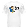 Футболка чоловіча, річна, яскрава з прикольним малюнком ЄДІ,ЕКГ,МРТ