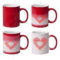 Чашка Хамелеон красная под заказ фото картинки надписи логотип