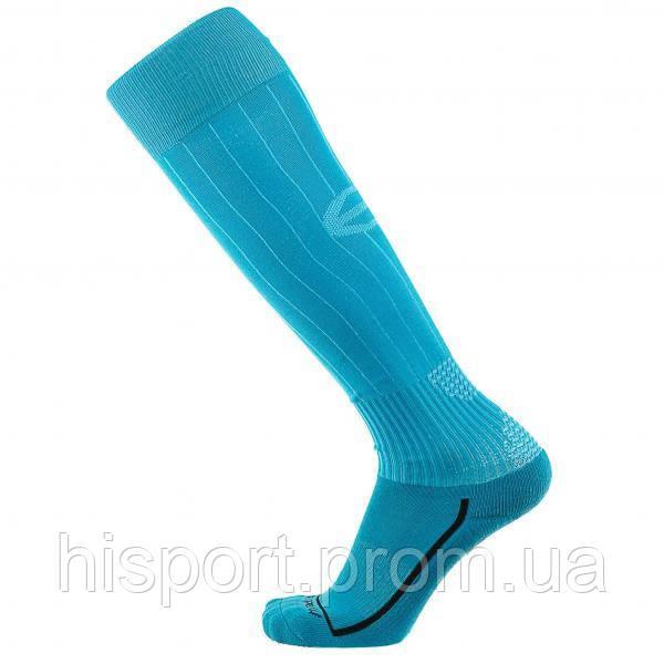 Футбольные гетры однотонные бирюзовые с трикотажным носком Europaw