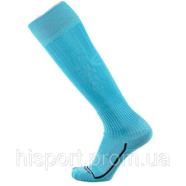 Футбольные гетры однотонные голубые с трикотажным носком Europaw