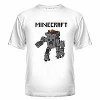 Футболки с нанесением Майнкрафт, Minecraft robo