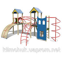 """Ігровий комплекс """"Каскад"""" висота гірки 1,5 м. для дитячих ігрових майданчиків KidSport"""