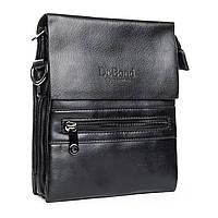 Мужская сумка DR. BOND  17*20*5 кожаный клапан, фото 1