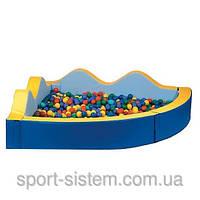 Мягкий игровой сухой бассейн Небо 2м детский (для шариков)