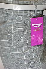Жіночі сірі літні брюки в клітинку, фото 3