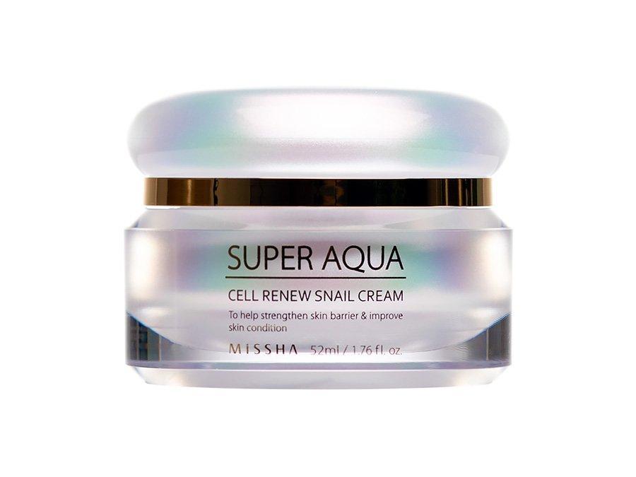 Крем для лица с улиткой и растительными стволовыми клетками Super aqua cell renew snail cream