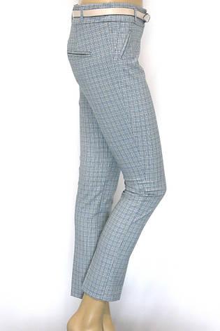 Жіночі літні брюки в клітинку, фото 2
