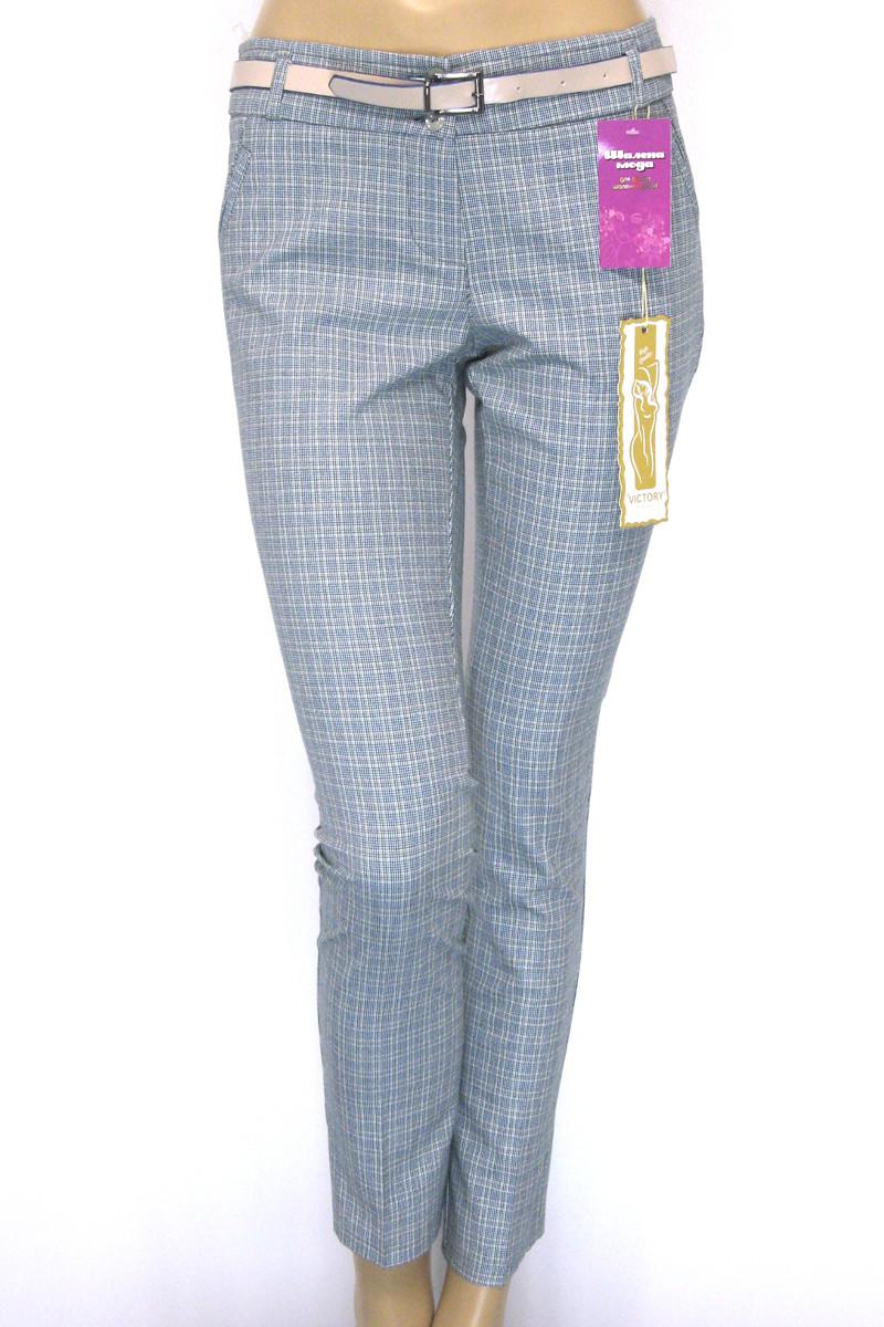Жіночі літні брюки в клітинку