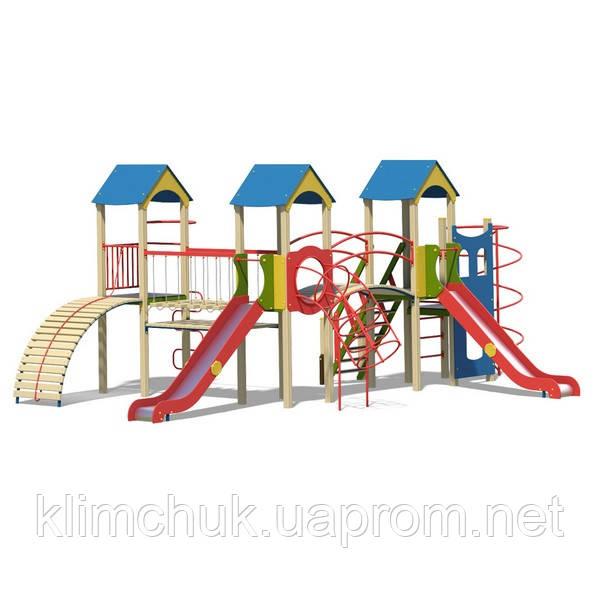 """Ігровий комплекс """"Фортеця"""" висота гірки 1,5 м. для дитячих ігрових майданчиків KidSport"""