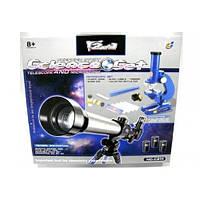 Детский набор 2в1 телескоп и микроскоп C2111
