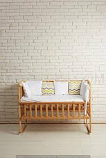Кровать «AMELI» с откидной боковиной, дугами и колесами (600 * 1200) (Венге), фото 2