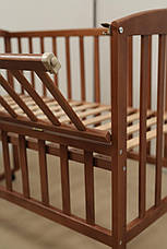 Кровать «AMELI» с откидной боковиной, дугами и колесами (600 * 1200) (Венге), фото 3
