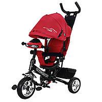 Велосипед коляска трехколесный с родительской ручкой и игровой панелью TILLY TITAN Тилли Титан T348 Красный