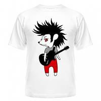 Прикольная молодёжная футболка, рисунок Ежик