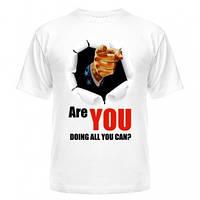 Стильная мужская футболка Are you doing