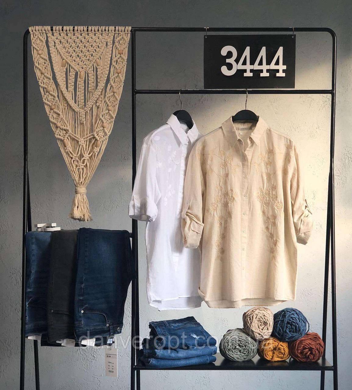 Рубашка женская модная с вышивкой размер S-L купить оптом со склада 7км Одесса
