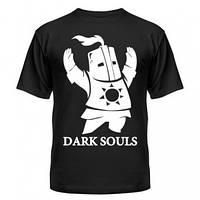 Майка мужская, летняя чёрного цвета с нанесением Dark Souls