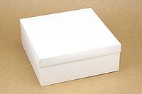 """Коробка """"ГифтБокс"""" М0069-о2 белая, размер: 250*250*100 мм"""
