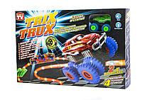 Конструктор для мальчиков Монстер-Траки Trix Trux LED YG11 светящийся трек и машинка -новый  подход к гонкам.