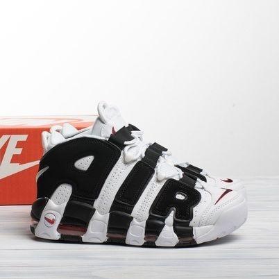 Мужские кроссовки в стиле Nike Air More Uptempo White/Black