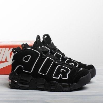 Мужские кроссовки в стиле Nike Air More Uptempo Black/White