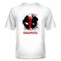 Футболка хлопковая с коротким рукавом принт Deadpool, Дэдпул