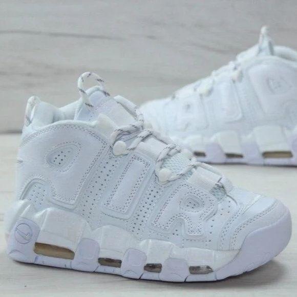 Мужские кроссовки в стиле Nike Air More Uptempo All White