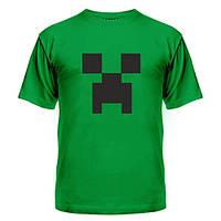 Летние футболки Minecraft logo grey, с лого майнкрафт