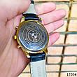 Часы мужские в стиле BMW. Мужские наручные часы золотого цвета. Часы с черным циферблатом Годинник чоловічий, фото 2