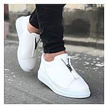 Мужские кроссовки с замком белые, фото 2