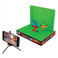 Игровой набор Стикбот студия Анимация (Stikbot studio Animation) 2 фигурки человечки и штатив JM03